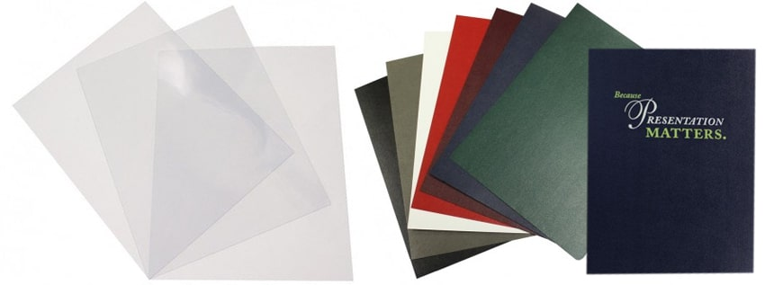 Single Sheet Binding Cover Pages