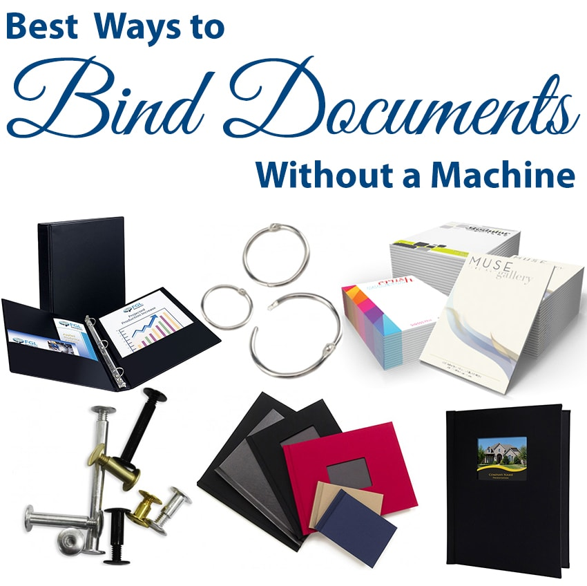 What are the Best Ways to Bind Documents without a Machine | Easy Document Binding