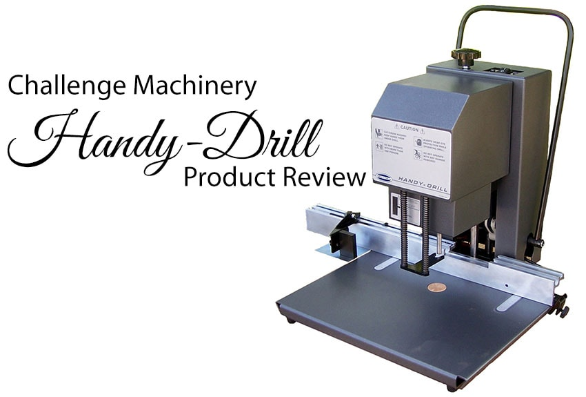 Challenge Handy-Drill Manual 1-Spindle Desktop Paper Drill