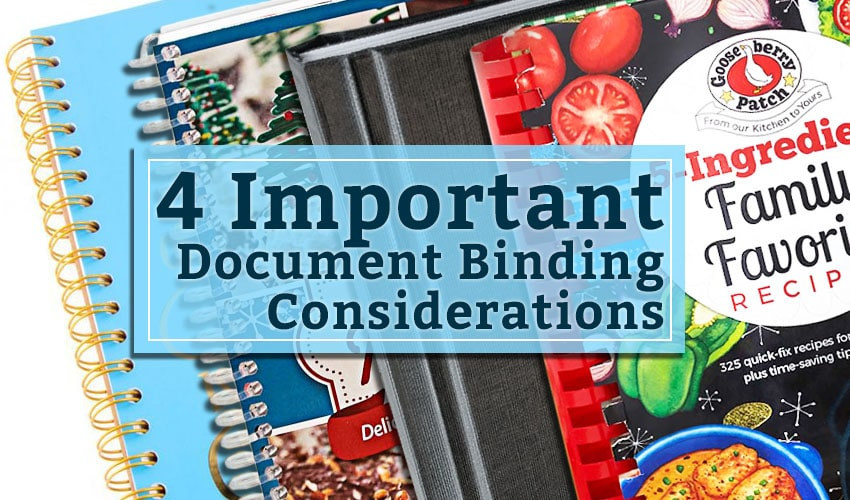 4 Important Document Binding Considerations