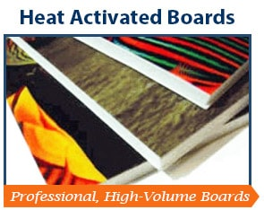 Heat Activated Mounting Boards