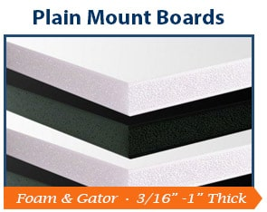 Plain Mounting Boards