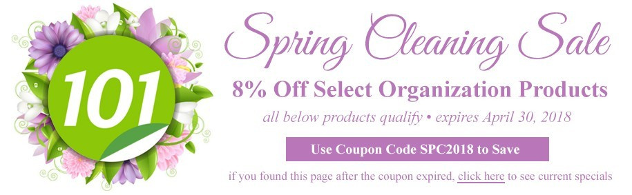 Binding101 Coupon Code | Spring Cleaning 2018 | 8% Off Office Organizing Products